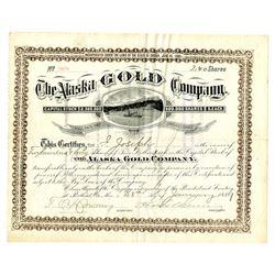 Alaska Gold Company, January 28th, 1889 Stock Certificate, One of the Earliest Alaska Mining Certifi