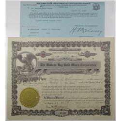 Blanche Bay Gold Mines Corp. 1924 I/U Stock Certificate