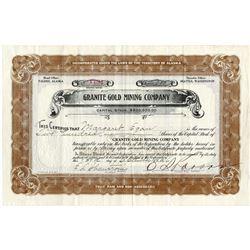 Granite Gold Mining Co., 1916 I/U Alaska Stock Certificate.