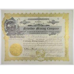 Newsboy Mining Co. 1912 I/U Stock Certificate