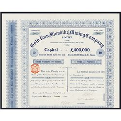 Gold Run (Klondike) Mining Co., Issued Warrant.