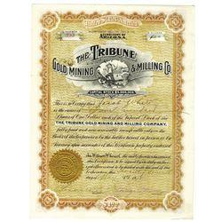 Tribune Gold Mining & Milling Co. 1908 I/U Stock Certificate
