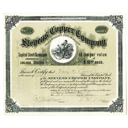 Stevens Copper Co. 1905 I/U Stock Certificate