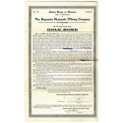 Saguache Hydraulic Mining Co of Colorado 1903 $1000 6% Gold Bond I/U