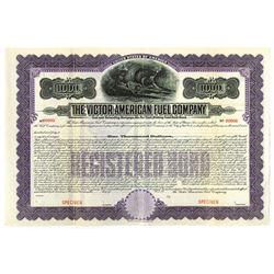 Victor-American Fuel Co., 1912 Specimen Bond