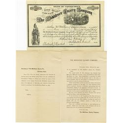 Middlesex Quarry Co. 1904 I/U Stock Certificate