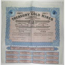 Treasury Gold Mines Ltd., 1910 Specimen Stock Certificate