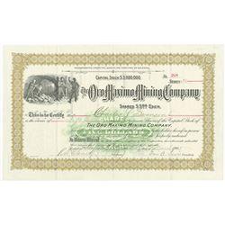 Oro Maximo Mining Co. 1905 I/U Stock Certificate