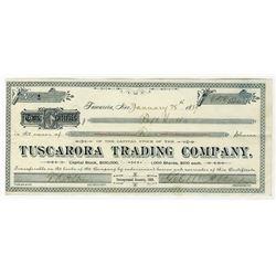 Tuscarora Trading Co., 1889, I/U Stock Certificate S/N 1.