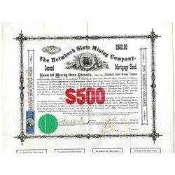 Heimbach Slate Mining Co. 1872 I/U Bond