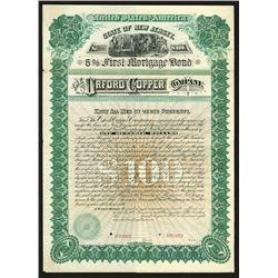 Orford Copper Co. 1887 Specimen Bond