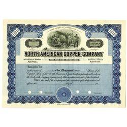 North American Copper Co., 1900-20 Specimen Stock Certificate