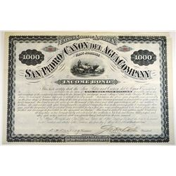 San Pedro and Canon Del Agua Co.,1880 I/U bond.