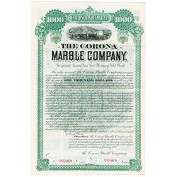 Corona Marble Co., 1890 Specimen Bond