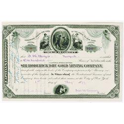 Sir Roderick DHU Gold Mining Co., 1879 I/U Stock Certificate