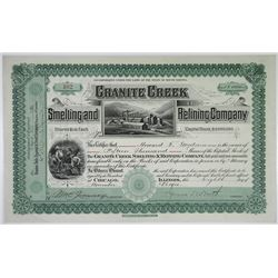 Granite Creek Smelting and Refining Co. 1900 I/U Stock Certificate