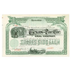 Texas and Pacific Coal Co., 1900-1920s Specimen Stock Certificate