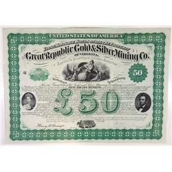 Great Republic Gold & Silver Mining Co., 1867 I/U Bond