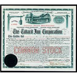 Tabard Inn Corp. 1904 I/U Stock Certificate