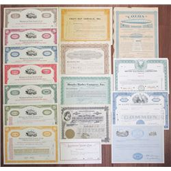 Group of Miscellaneous Stock Certificates and Bonds