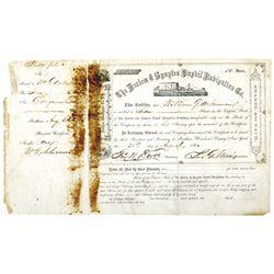Harlem & Spuyten Duyvil Navigation Co. 1860 Stock Certificate