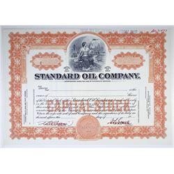 Standard Oil Co., 1920-30 Specimen Stock Certificate