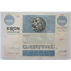 Exxon Corp., 1983 Unique Production Proof Model of Proposed Stock Certificate