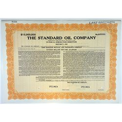 Standard Oil Co., 1942 $15,000,000 Specimen 3% Debenture Bond, XF ABNC