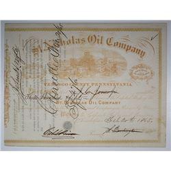 St. Nicholas Oil Co., 1865 I/C Stock Certificate