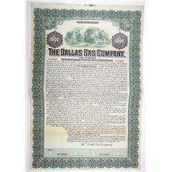 Dallas Gas Co., 1905 Specimen 5% First Mortgage Gold Bond, VF ABNC