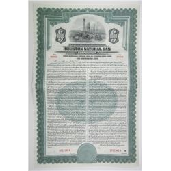 Houston Natural Gas Corp., 1940 Specimen 4% $1000 Coupon Bond ENRON Related