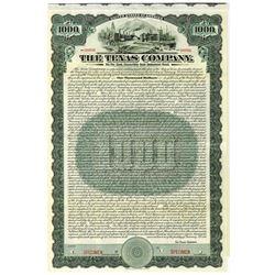 """Texas Company """"TEXACO"""". 1911 Specimen Bond"""