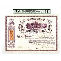 Randolph Oil and Mining Co., 1864 I/U Stock Certificate