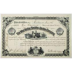 MacKellar, Smiths and Jordan Co. 1885 I/U Stock Certificate