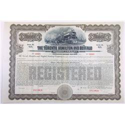 Canada. Toronto, Hamilton & Buffalo Railway Co, 1916, Specimen $1000 Registered bond