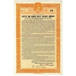 Seattle and Rainier Valley Railway Co. 1916 I/U, Low Serial #2 Bond