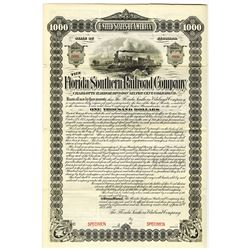 Florida Southern Railroad Co., 1892 Specimen Bond Rarity