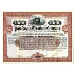 Port Inglis Terminal Co., 1904 Specimen Bond Rarity