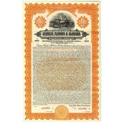 Georgia, Florida & Alabama Railroad Co., 1927 Specimen Bond Rarity
