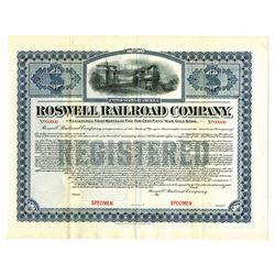 Roswell Railroad Co., 1903, Registered Specimen Bond.