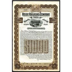 Boise Railroad Co. Ltd., 1906 Specimen Gold Bond.