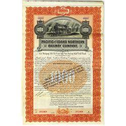 Pacific and Idaho Northern Railway Co., 1899 Specimen Bond