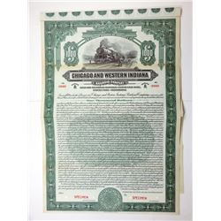 Chicago & Western Indiana Railroad Co., 1912 $1,000 Specimen 5 1/2% Bond, Fine