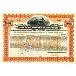 Railroad Securities Co., 1901 Specimen Bond