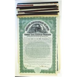 Midwest and North Eastern Railroad Bond Assortment, ca.1900-1930