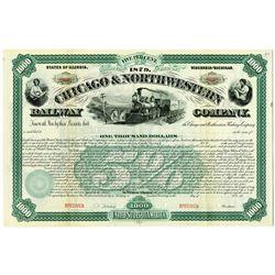 Chicago & Northwestern Railway Co., 1879 (Re-issued in 1900) Specimen Bond