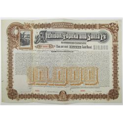 Atchison, Topeka and Santa Fe Railroad Co. 1889 Specimen Bond
