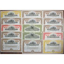 Bush Terminal Co., 1929 to 1940 I/C Stock Certificate Assortment.