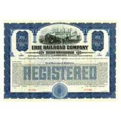 Erie Railroad Company - Genesee River Railroad Co. 1907 Specimen Bond