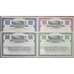 New York Central Railroad Co., 1913 Specimen Bond Quartet